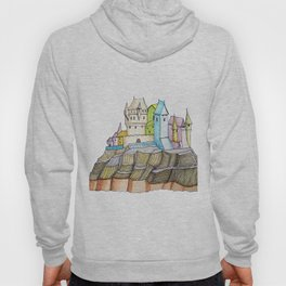 fairytale castle on a cliff Hoody