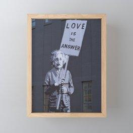 Love is the Answer Framed Mini Art Print
