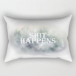 Shit happens // Mist - Fog in forest Rectangular Pillow