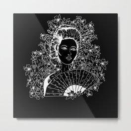 Geisha Otaku Japan Art E Girl Grunge Metal Print