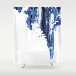 Blue abstract nr1 Shower Curtain