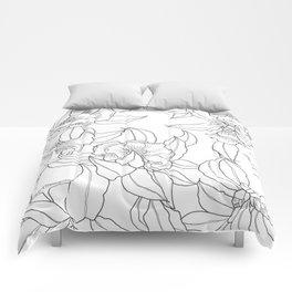 Flower Outline Comforters