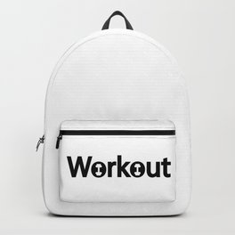 Workout creative typography design Backpack