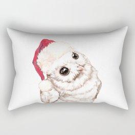 Christmas Snowy Owl Rectangular Pillow