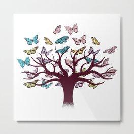 Butterflies tree Metal Print