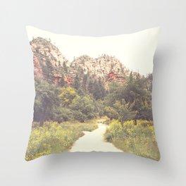 Colors of Sedona Throw Pillow