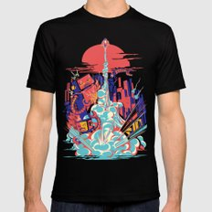 Smash! Zap!! Zooom!! - Generic Spacecraft LARGE Black Mens Fitted Tee