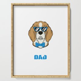 Cool Beagle Dog Dad Dog Lover Pet Gift Serving Tray