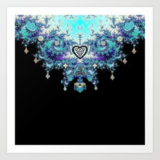 Celtic Fractal Celtic Heart Tapestry Art Print