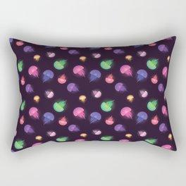 Rainbow Jellyfish Pattern Rectangular Pillow