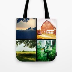Summer on my parents' farm. Tote Bag