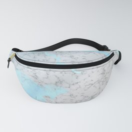 Mercury - blue metallic marble Fanny Pack