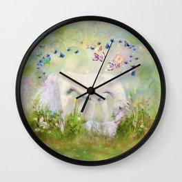 Einhorn Mama und Kind Wall Clock