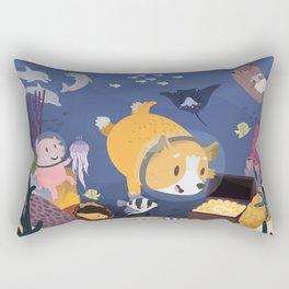 Diving For Treasure! Rectangular Pillow
