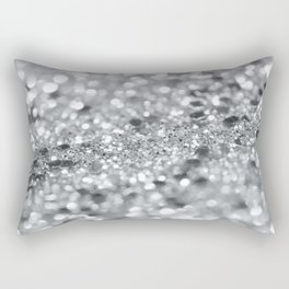 Silver Gray Lady Glitter #1 #shiny #decor #art #society6 Rectangular Pillow