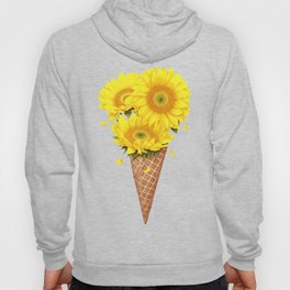 Ice cream with sunflowers Hoody