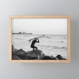 Surfer Framed Mini Art Print