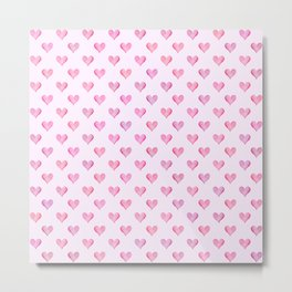 Little Hearts Big Love Metal Print