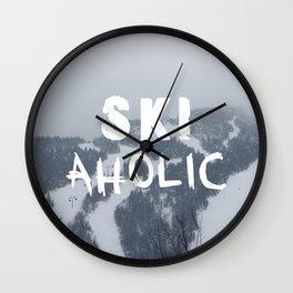 SKIaholic Wall Clock