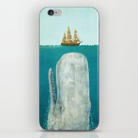blue iPhone & iPod Skins featuring The Whale  by Terry Fan