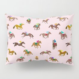 Off to the Horse Races (Pink) Pillow Sham