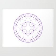 Anime Magic Circle 8 Art Print