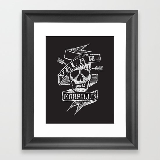 all men must die Framed Art Print