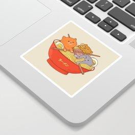 Ramen cats Sticker