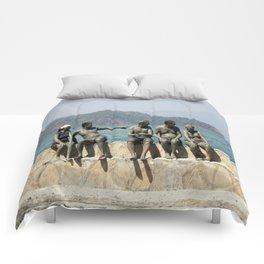 People Taking A Mudbath - Sultaniye, Turkey Comforters