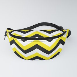 Yellow Black and White Chevrons Fanny Pack
