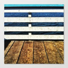 Pier Lines Canvas Print