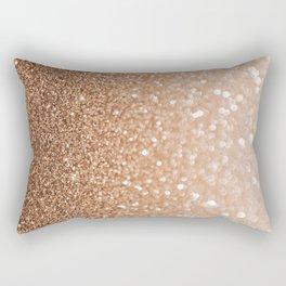 Copper Shiny Powder Texure Rectangular Pillow