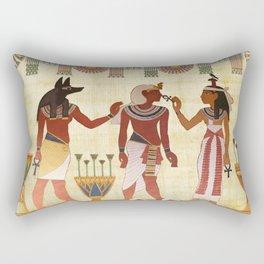 egyptian design man woman priest Rectangular Pillow
