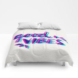 Good Vibes – Magenta & Cyan Comforters
