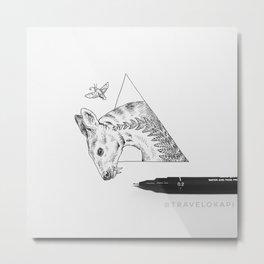 Deer Moth Metal Print