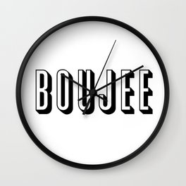 Boujee Wall Clock