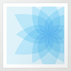 Square Lotus Art Print