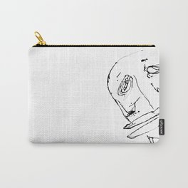 White twisted face Carry-All Pouch
