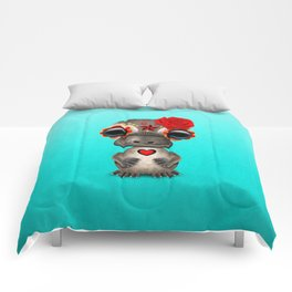 Red Day of the Dead Sugar Skull Baby Platypus Comforters
