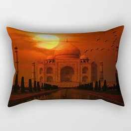 Taj Mahal Sunset Rectangular Pillow