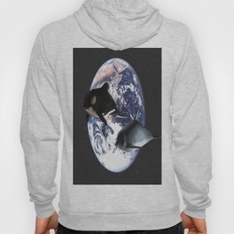 Whale & Dolphin in space Hoody