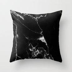 Black Marble I Throw Pillow