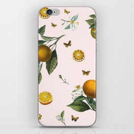 Oranges and Butterflies in Blush iPhone Skin