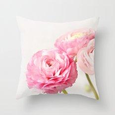 Ranunculus trio Throw Pillow