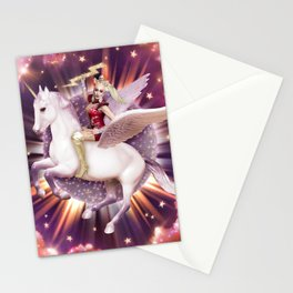 Andora: Drag Queen Riding a Unicorn Stationery Cards