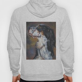 English Setter dog art portrait from an original painting by L.A.Shepard Hoody