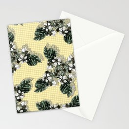 Bramble Flower on Yellow Mosaic Stationery Cards