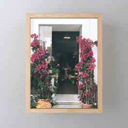 Capri Flowers Framed Mini Art Print