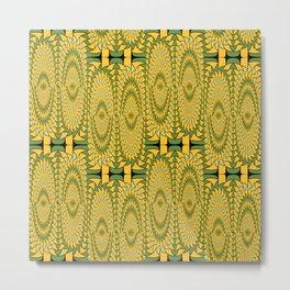 Geometric sunflowers Metal Print