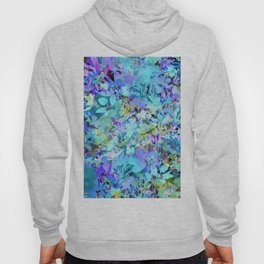 Sky Blue Poppies Hoody